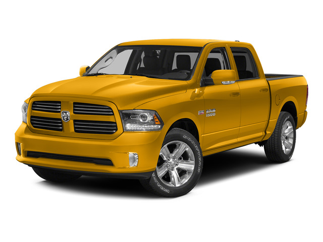 Construction Yellow 2015 Ram Truck 1500 Pictures 1500 Crew Cab SSV 4WD photos front view
