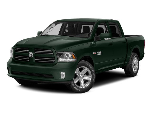 Black Forest Green Pearlcoat 2015 Ram Truck 1500 Pictures 1500 Crew Cab SLT 4WD photos front view