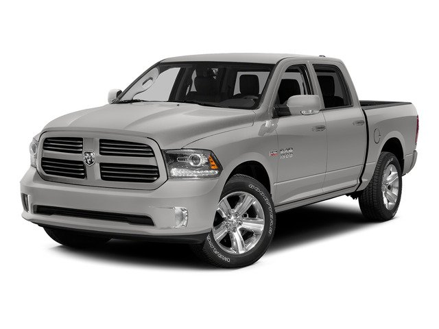 Bright Silver Metallic Clearcoat 2015 Ram Truck 1500 Pictures 1500 Crew Cab SLT 4WD photos front view
