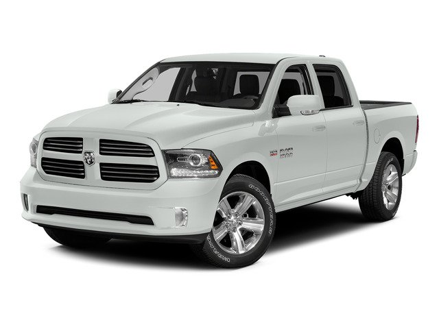 Bright White Clearcoat 2015 Ram Truck 1500 Pictures 1500 Crew Cab SLT 4WD photos front view