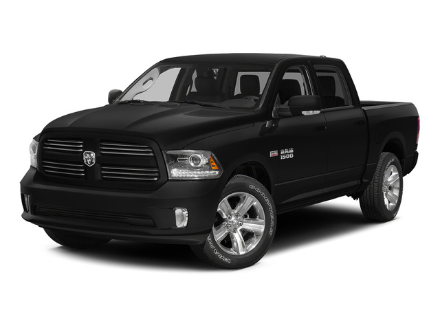 Black Clearcoat 2015 Ram Truck 1500 Pictures 1500 Crew Cab SLT 4WD photos front view