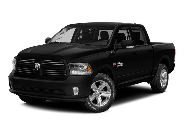 Brilliant Black Crystal Pearlcoat 2015 Ram Truck 1500 Pictures 1500 Crew Cab SLT 4WD photos front view