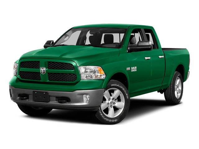 Bright Green 2015 Ram Truck 1500 Pictures 1500 Quad Cab SLT 2WD photos front view