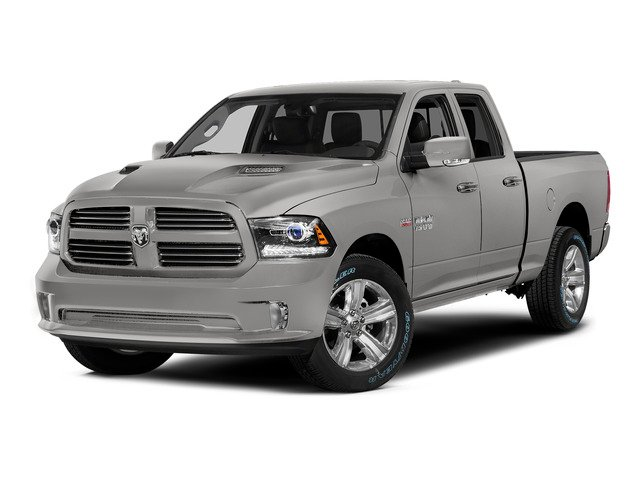 Bright Silver Metallic Clearcoat 2015 Ram Truck 1500 Pictures 1500 Quad Cab Sport 2WD photos front view