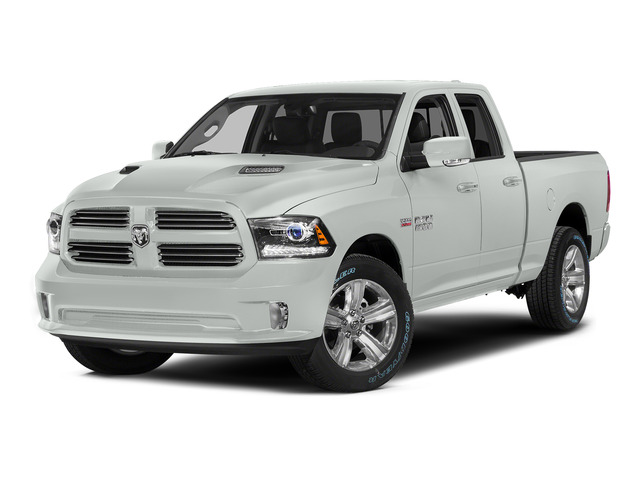 Bright White Clearcoat 2015 Ram Truck 1500 Pictures 1500 Quad Cab Sport 2WD photos front view