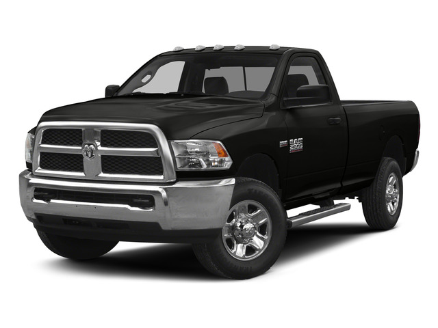 Brilliant Black Crystal Pearlcoat 2015 Ram Truck 2500 Pictures 2500 Regular Cab Tradesman 4WD photos front view