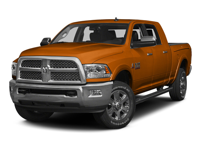 Omaha Orange 2015 Ram Truck 3500 Pictures 3500 Mega Cab SLT 2WD photos front view