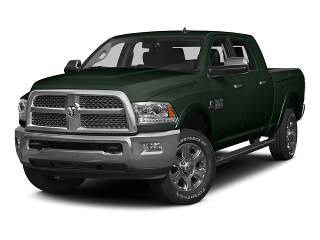 Black Forest Green Pearlcoat 2015 Ram Truck 3500 Pictures 3500 Mega Cab SLT 4WD photos front view