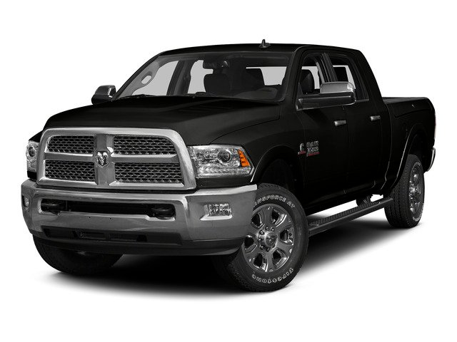 Brilliant Black Crystal Pearlcoat 2015 Ram Truck 3500 Pictures 3500 Mega Cab Limited 4WD photos front view