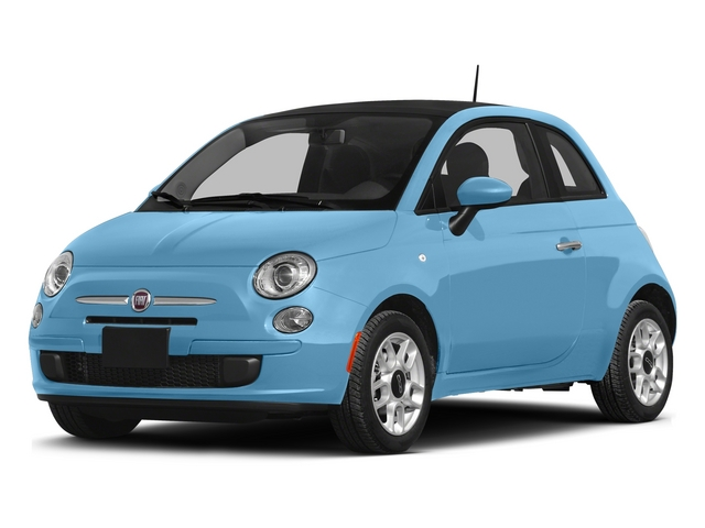 Luce Blu (Light Blue) 2015 FIAT 500 Pictures 500 Hatchback 3D Sport I4 photos front view