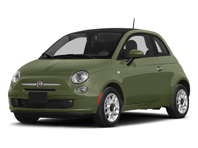 Verde Oliva (Olive Green) 2015 FIAT 500 Pictures 500 Hatchback 3D Sport I4 photos front view
