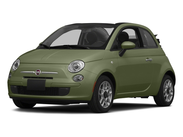 Verde Oliva (Olive Green) 2015 FIAT 500c Pictures 500c Convertible 2D Pop I4 photos front view