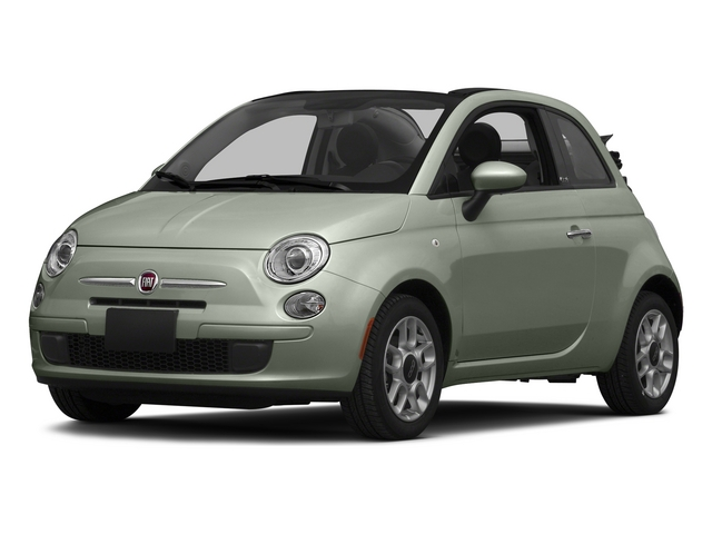Verde Chiaro (Light Green) 2015 FIAT 500c Pictures 500c Convertible 2D Lounge I4 photos front view