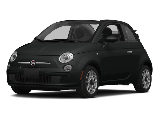 Nero Puro (Straight Black) 2015 FIAT 500c Pictures 500c Convertible 2D Lounge I4 photos front view