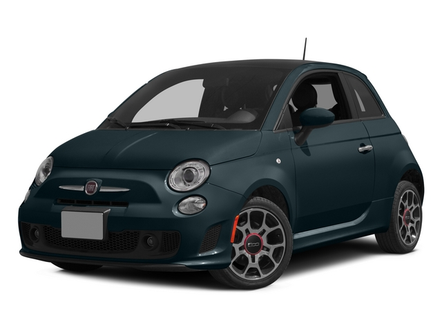 Verde Azzurro (Blue-Green) 2015 FIAT 500 Pictures 500 Hatchback 3D I4 Turbo photos front view