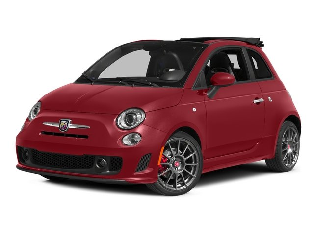 Rosso (Red) 2015 FIAT 500c Pictures 500c Convertible 2D Abarth I4 photos front view