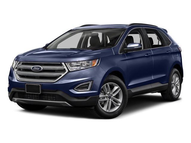Deep Impact Blue Metallic 2015 Ford Edge Pictures Edge Utility 4D Titanium 2WD V6 photos front view