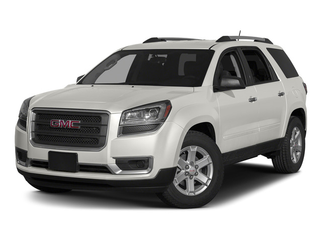 Summit White 2015 GMC Acadia Pictures Acadia Utility 4D SLT AWD photos front view