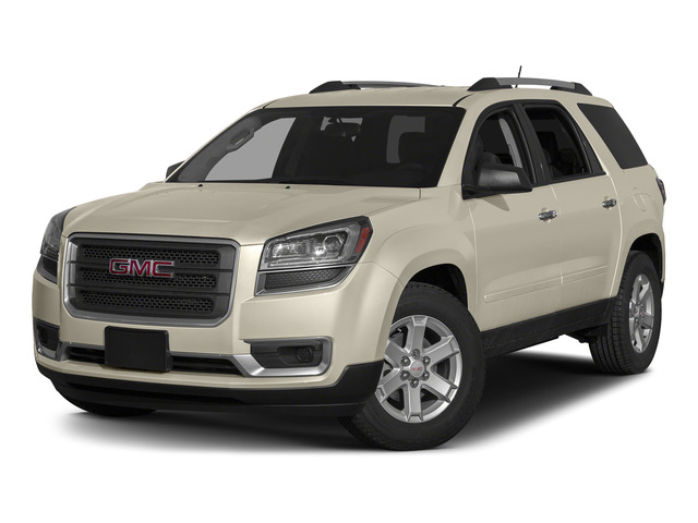White Diamond Tricoat 2015 GMC Acadia Pictures Acadia Utility 4D SLT AWD photos front view