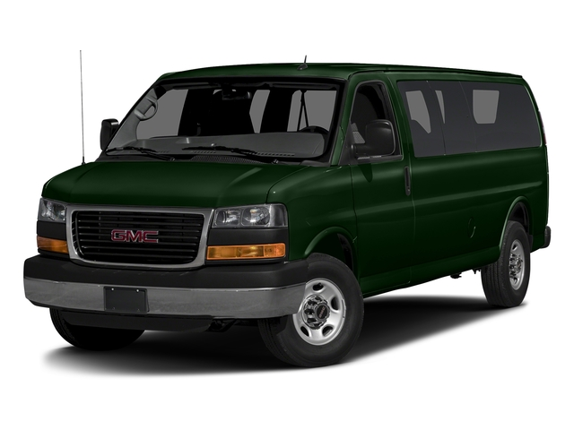 Emerald Green Metallic 2015 GMC Savana Passenger Pictures Savana Passenger Savana LT 135 photos front view