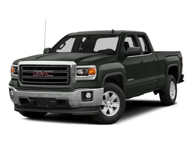 Light Steel Gray Metallic 2015 GMC Sierra 1500 Pictures Sierra 1500 Extended Cab SLE 4WD photos front view
