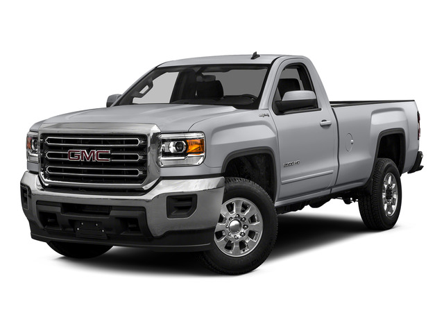 Quicksilver Metallic 2015 GMC Sierra 2500HD Pictures Sierra 2500HD Regular Cab SLE 4WD photos front view