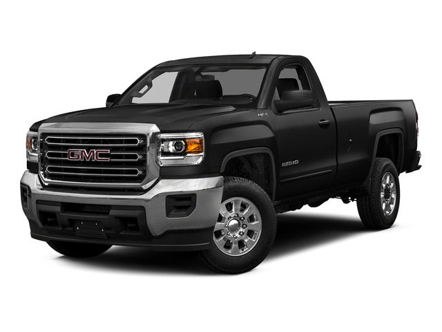 Onyx Black 2015 GMC Sierra 2500HD Pictures Sierra 2500HD Regular Cab SLE 4WD photos front view