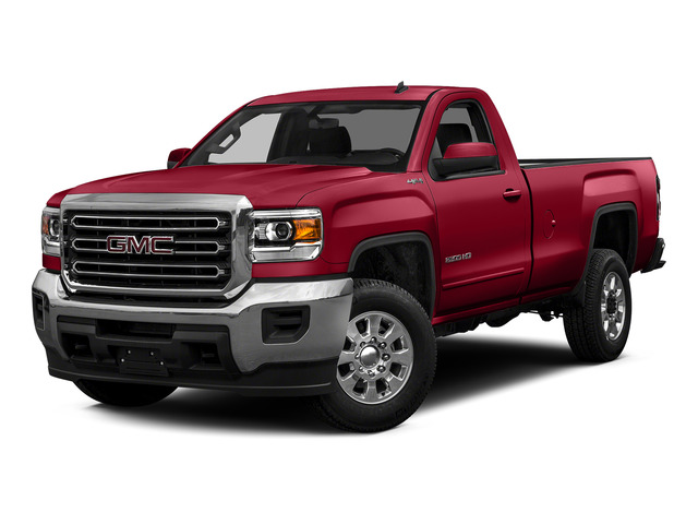 Fire Red 2015 GMC Sierra 2500HD Pictures Sierra 2500HD Regular Cab SLE 4WD photos front view