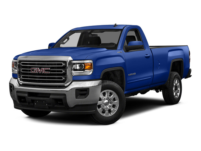 Cobalt Blue Metallic 2015 GMC Sierra 2500HD Pictures Sierra 2500HD Regular Cab SLE 4WD photos front view
