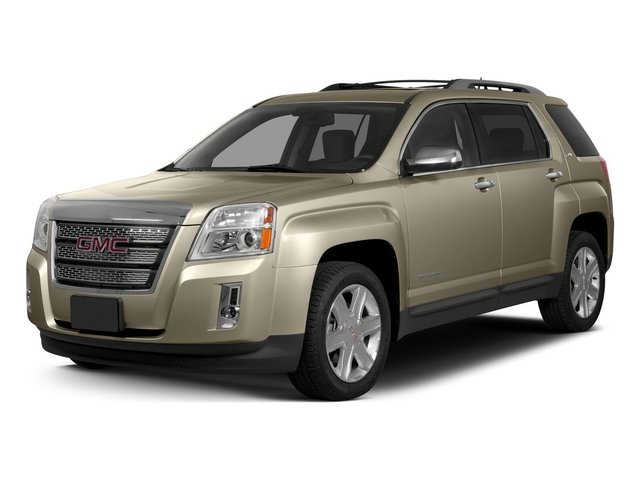 Champagne Silver Metallic 2015 GMC Terrain Pictures Terrain Utility 4D SLE2 AWD photos front view