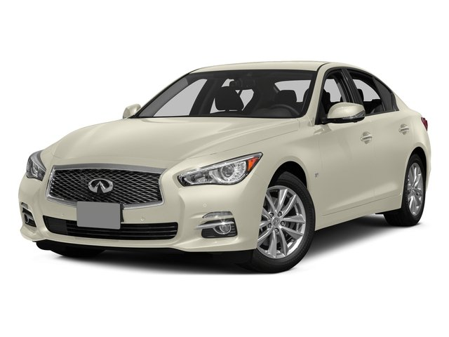 Moonlight White 2015 INFINITI Q50 Pictures Q50 Sedan 4D Sport AWD V6 photos front view