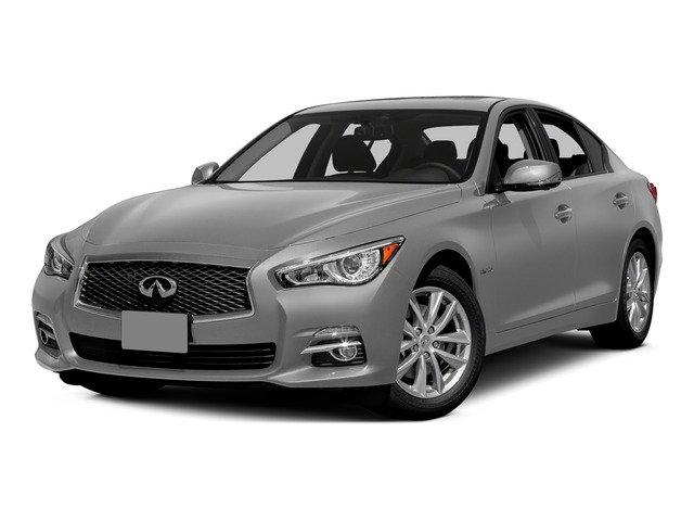 Liquid Platinum 2015 INFINITI Q50 Pictures Q50 Sedan 4D Sport V6 Hybrid photos front view