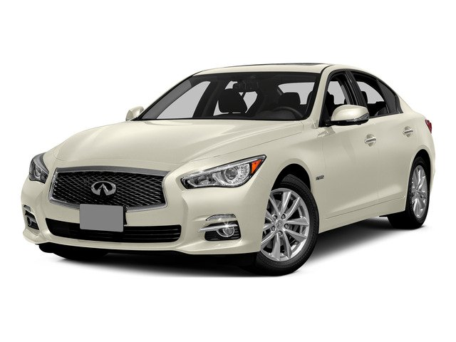 Moonlight White 2015 INFINITI Q50 Pictures Q50 Sedan 4D Premium V6 Hybrid photos front view