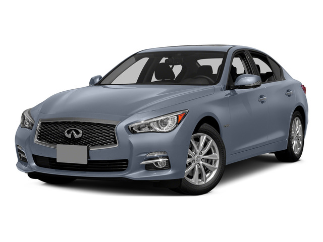 Hagane Blue 2015 INFINITI Q50 Pictures Q50 Sedan 4D Premium V6 Hybrid photos front view