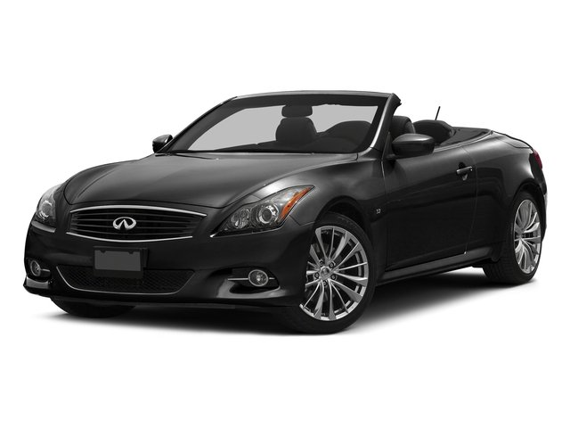 Black Obsidian 2015 INFINITI Q60 Convertible Pictures Q60 Convertible Convertible 2D Sport V6 photos front view