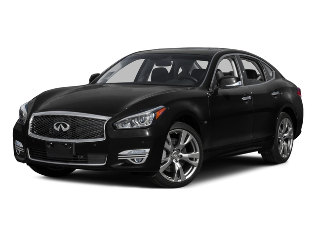 Black Obsidian 2015 INFINITI Q70 Pictures Q70 Sedan 4D AWD V8 photos front view