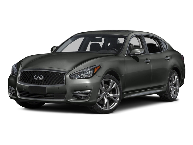 Storm Front Gray 2015 INFINITI Q70L Pictures Q70L Sedan 4D LWB AWD V6 photos front view