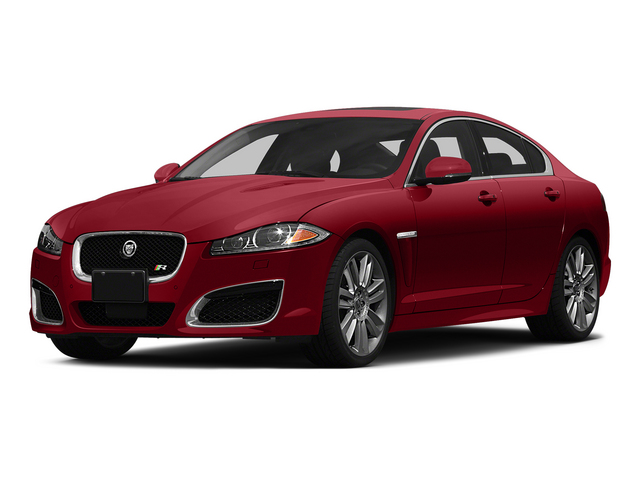 Italian Racing Red 2015 Jaguar XF Pictures XF Sedan 4D XFR V8 Supercharged photos front view
