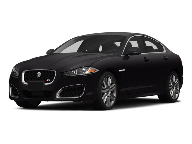 Ultimate Black Metallic 2015 Jaguar XF Pictures XF Sedan 4D XFR V8 Supercharged Speed photos front view