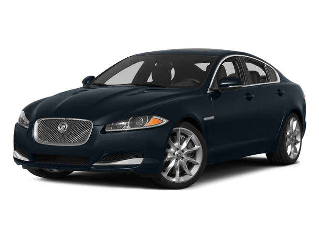 Dark Sapphire Metallic 2015 Jaguar XF Pictures XF Sed 4D Portfolio AWD V6 Supercharged photos front view
