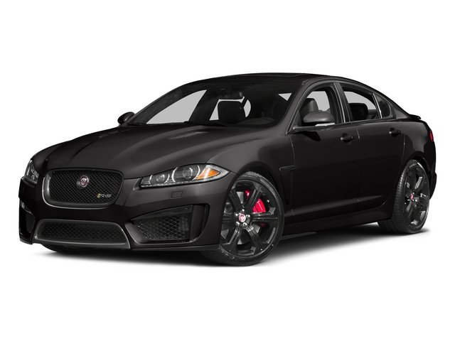 Ultimate Black Metallic 2015 Jaguar XF Pictures XF Sedan 4D XFR-S V8 Supercharged photos front view