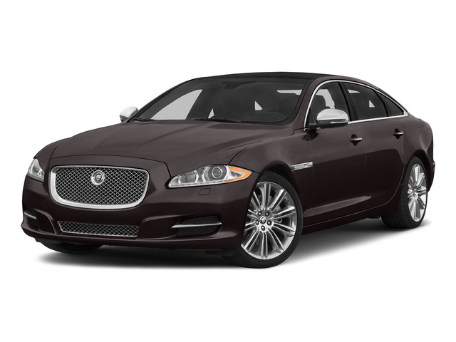 Caviar Metallic 2015 Jaguar XJ Pictures XJ Sedan 4D L Supercharged Speed V8 photos front view