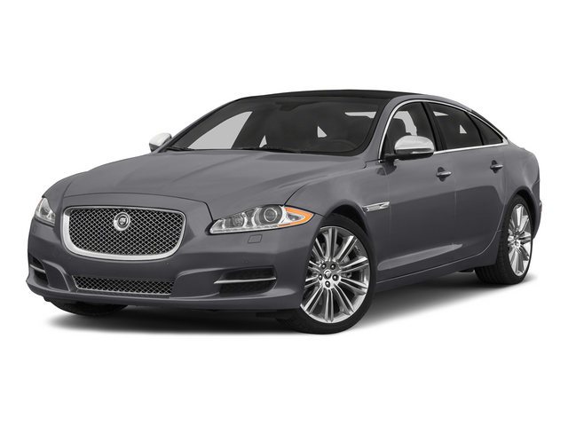 Lunar Gray Metallic 2015 Jaguar XJ Pictures XJ Sedan 4D L Supercharged Speed V8 photos front view