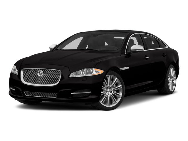 Ultimate Black Metallic 2015 Jaguar XJ Pictures XJ Sedan 4D L Supercharged Speed V8 photos front view
