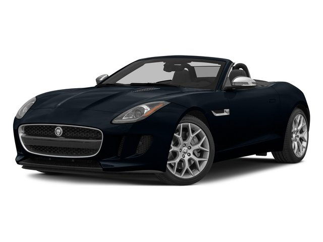 Dark Sapphire Metallic 2015 Jaguar F-TYPE Pictures F-TYPE Convertible 2D V6 photos front view
