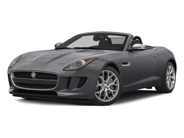 Lunar Gray Metallic 2015 Jaguar F-TYPE Pictures F-TYPE Convertible 2D V6 photos front view