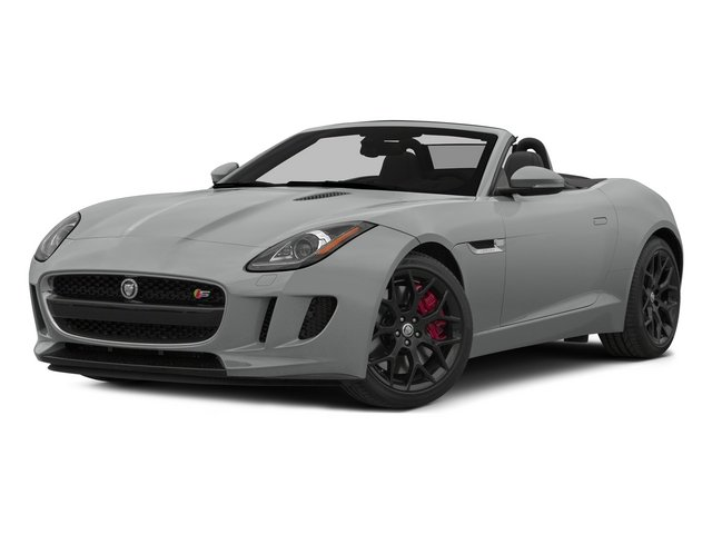 Rhodium Silver Metallic 2015 Jaguar F-TYPE Pictures F-TYPE Convertible 2D S V6 photos front view
