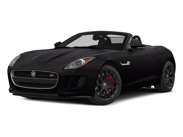 Ultimate Black Metallic 2015 Jaguar F-TYPE Pictures F-TYPE Convertible 2D S V6 photos front view