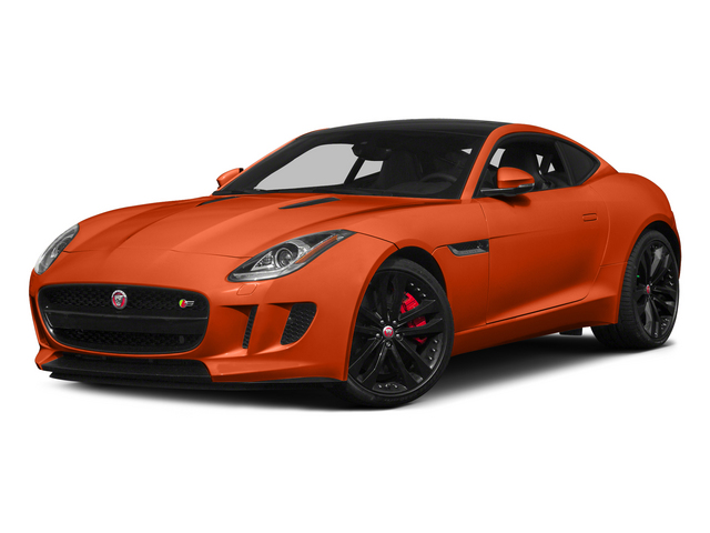 Firesand Metallic 2015 Jaguar F-TYPE Pictures F-TYPE Coupe 2D S V6 photos front view
