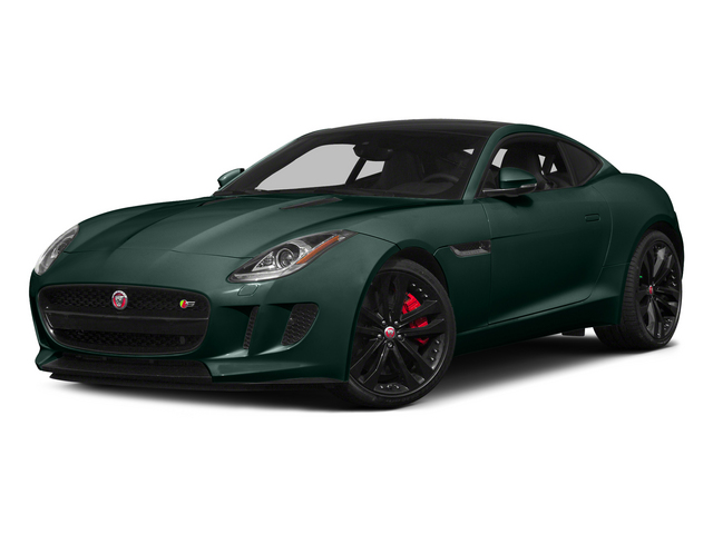 British Racing Green 2015 Jaguar F-TYPE Pictures F-TYPE Coupe 2D S V6 photos front view